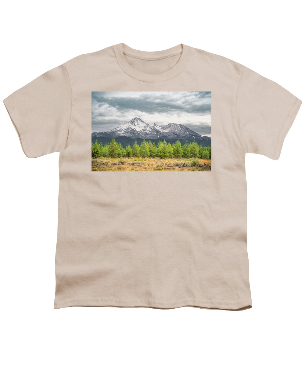 California Youth T-Shirt featuring the photograph Mount Shasta by Jim Thompson