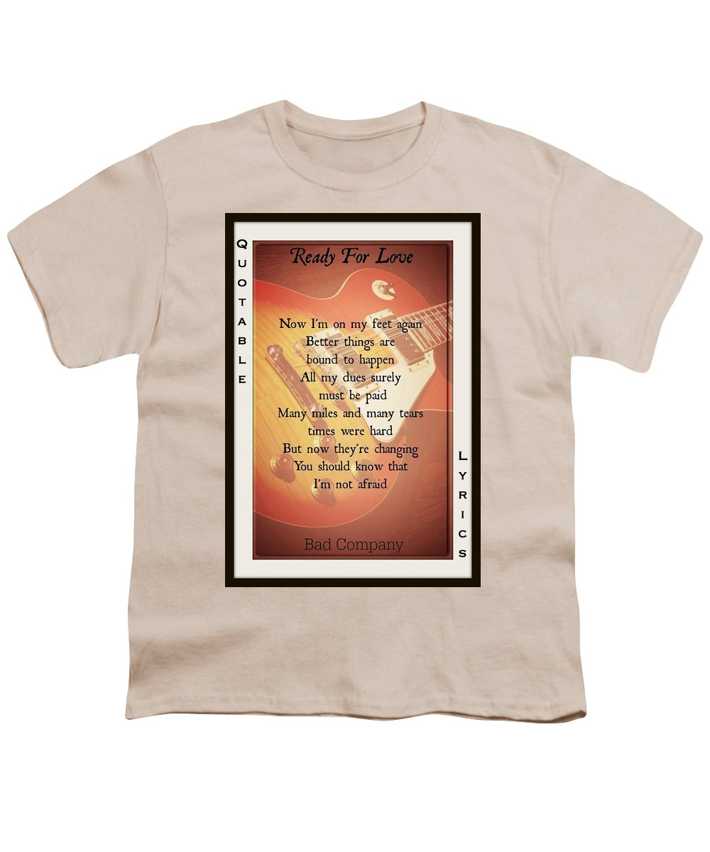 Bad Company Youth T-Shirt featuring the photograph Ready For Love 2 by David Norman