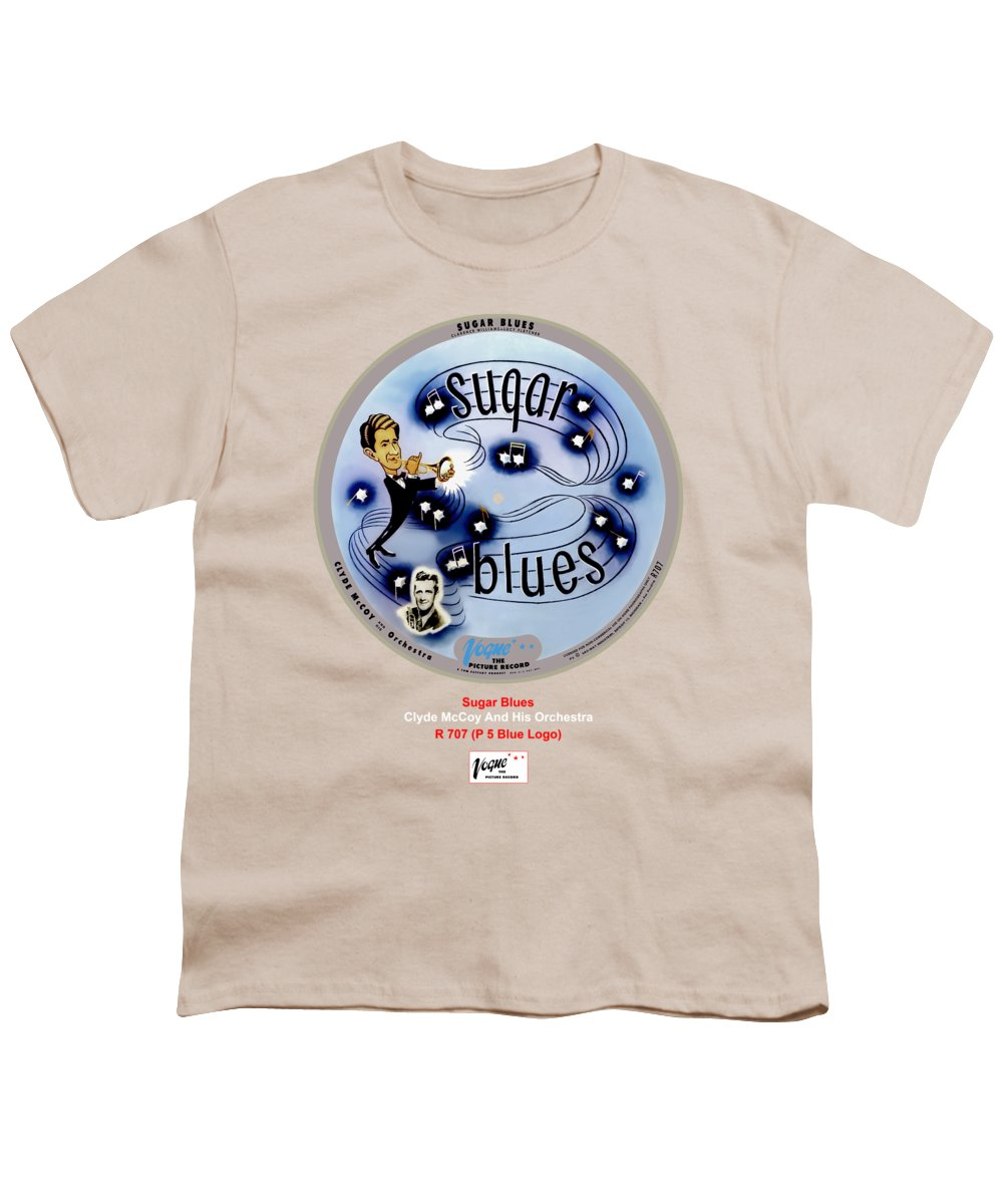Vogue Picture Record Youth T-Shirt featuring the digital art Vogue Record Art - R 707 - P 5, Blue Logo by John Robert Beck