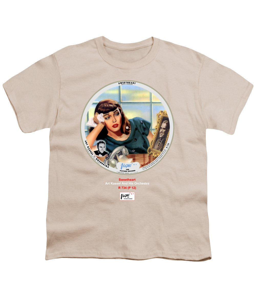 Vogue Picture Record Youth T-Shirt featuring the digital art Vogue Record Art - R 734 - P 12 by John Robert Beck