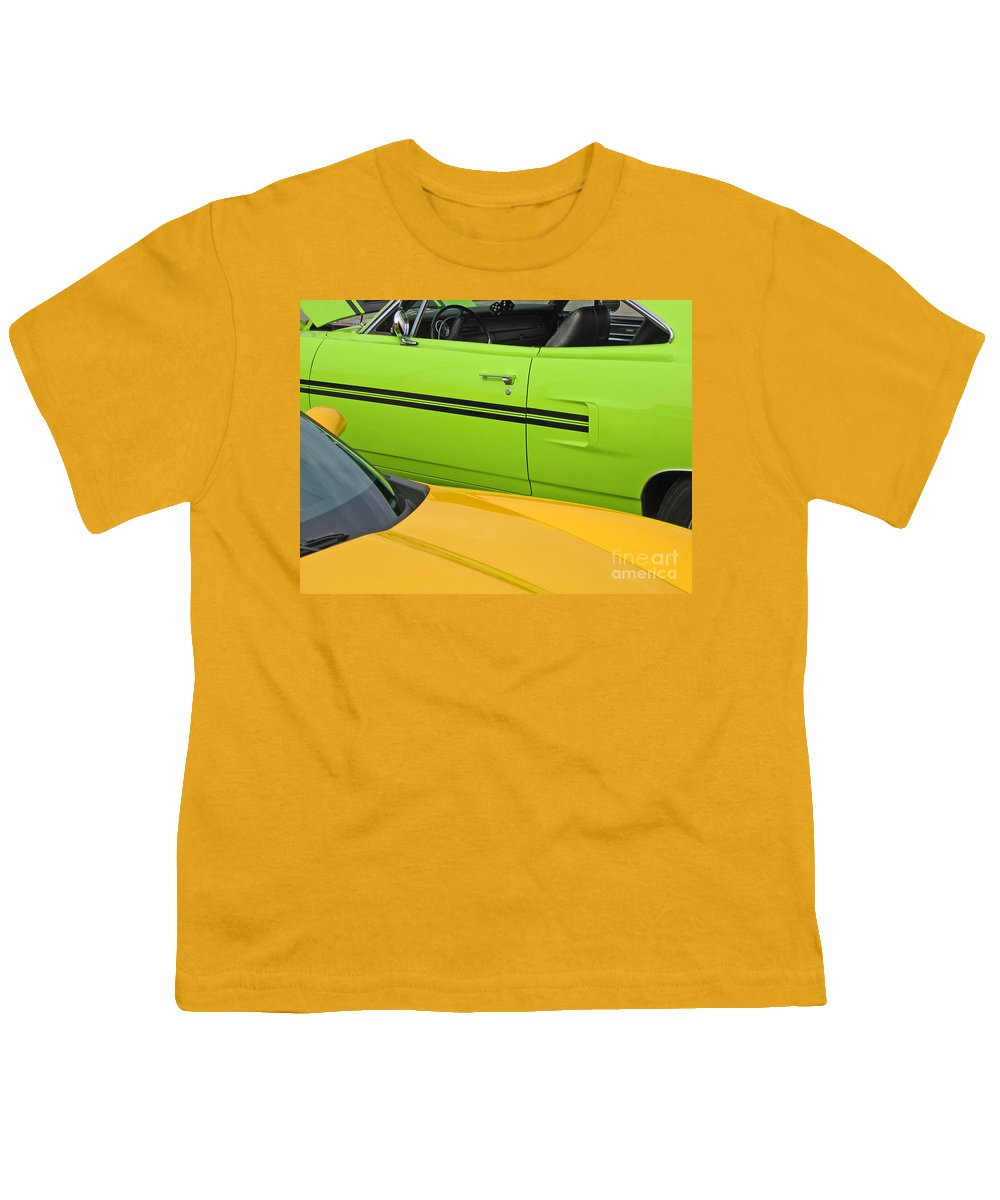 Car Youth T-Shirt featuring the photograph Classy Classics by Ann Horn
