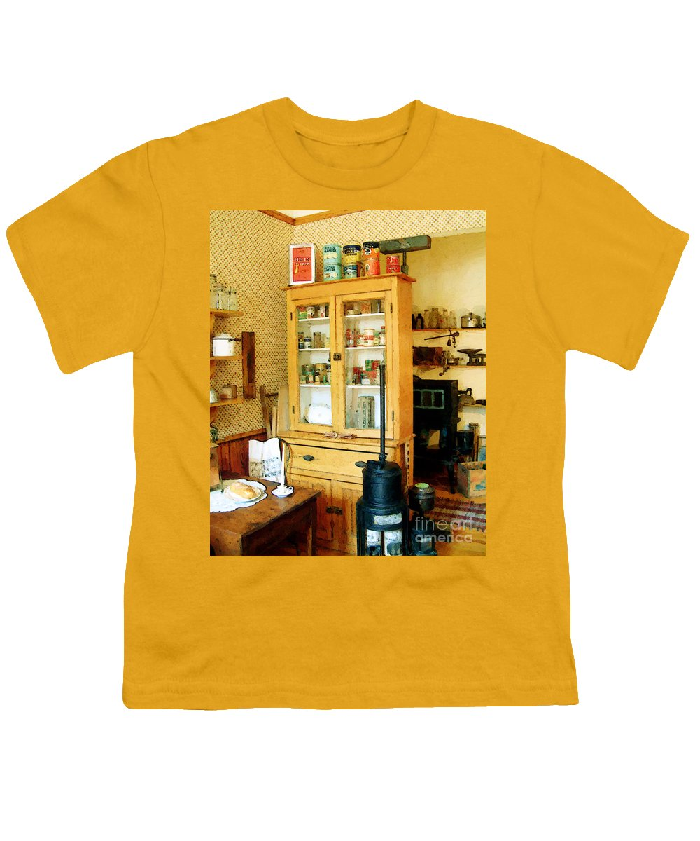 Antiques Youth T-Shirt featuring the painting Country Kitchen Sunshine IIi by RC deWinter