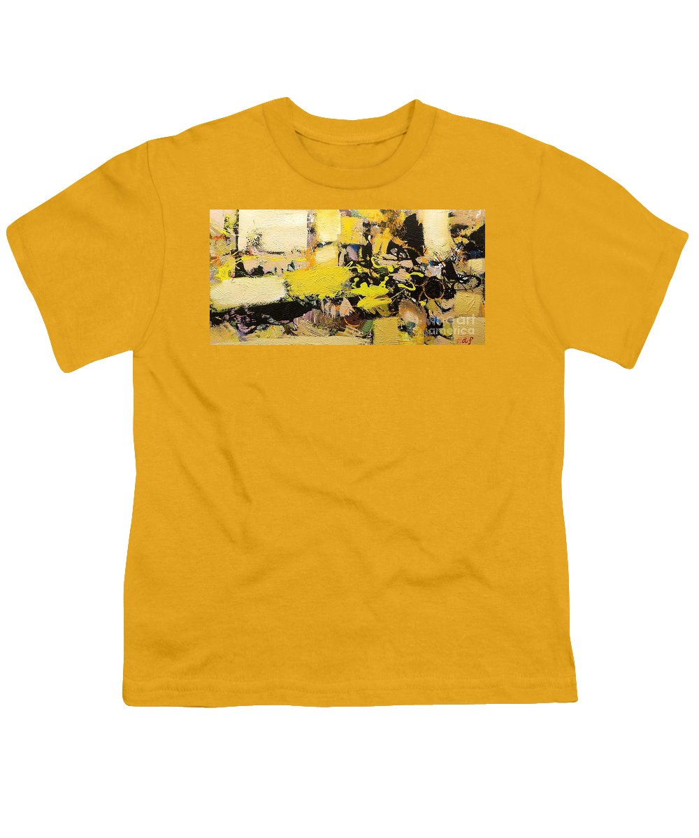 Landscape Youth T-Shirt featuring the painting Euclid by Allan P Friedlander