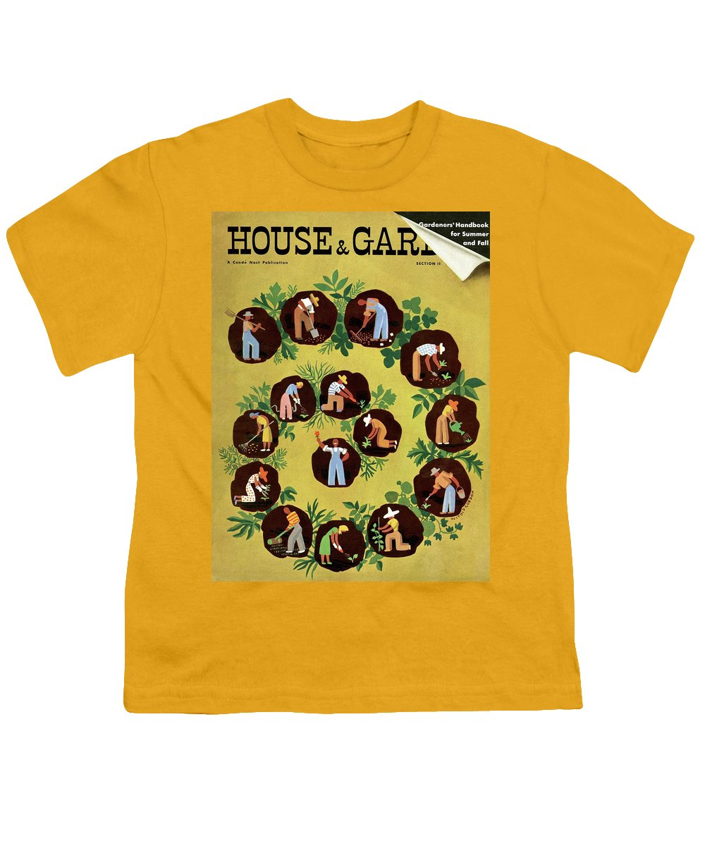House And Garden Youth T-Shirt featuring the photograph Gardeners And Farmers by Witold Gordon
