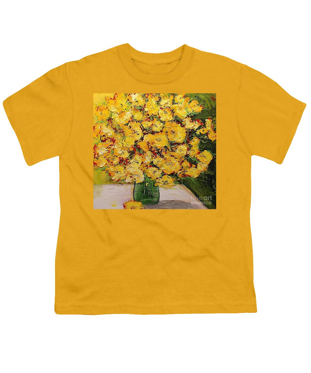 Landscape Youth T-Shirt featuring the painting New Beginnings by Allan P Friedlander