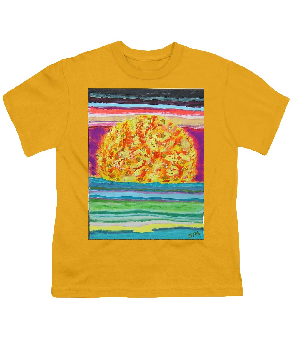Hot Youth T-Shirt featuring the painting The Sun Drinks The Ocean And Eats The Sky by James Campbell