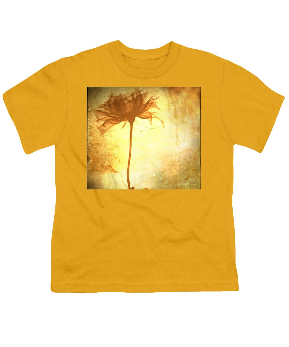 Flower Youth T-Shirt featuring the painting Against All Odds by Jacky Gerritsen