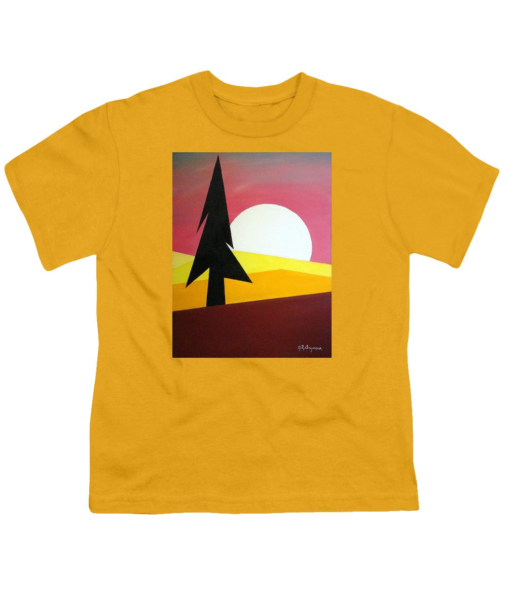 Phases Of The Moon Youth T-Shirt featuring the painting Bad Moon Rising by J R Seymour