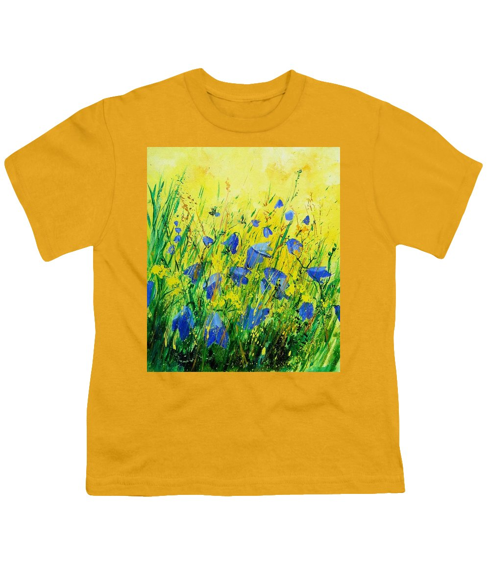 Poppies Youth T-Shirt featuring the painting Blue Bells by Pol Ledent
