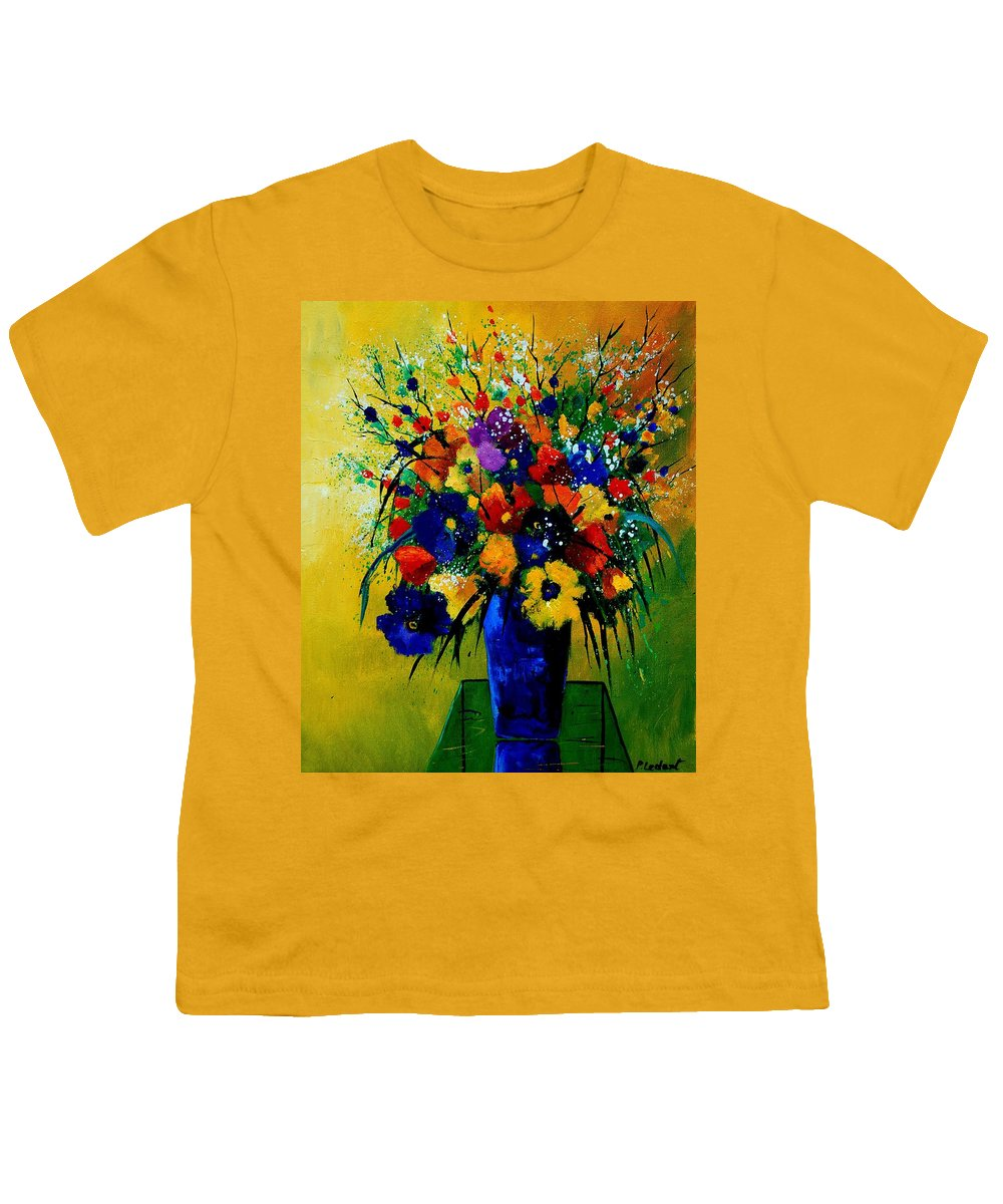 Poppies Youth T-Shirt featuring the painting Bunch 0508 by Pol Ledent