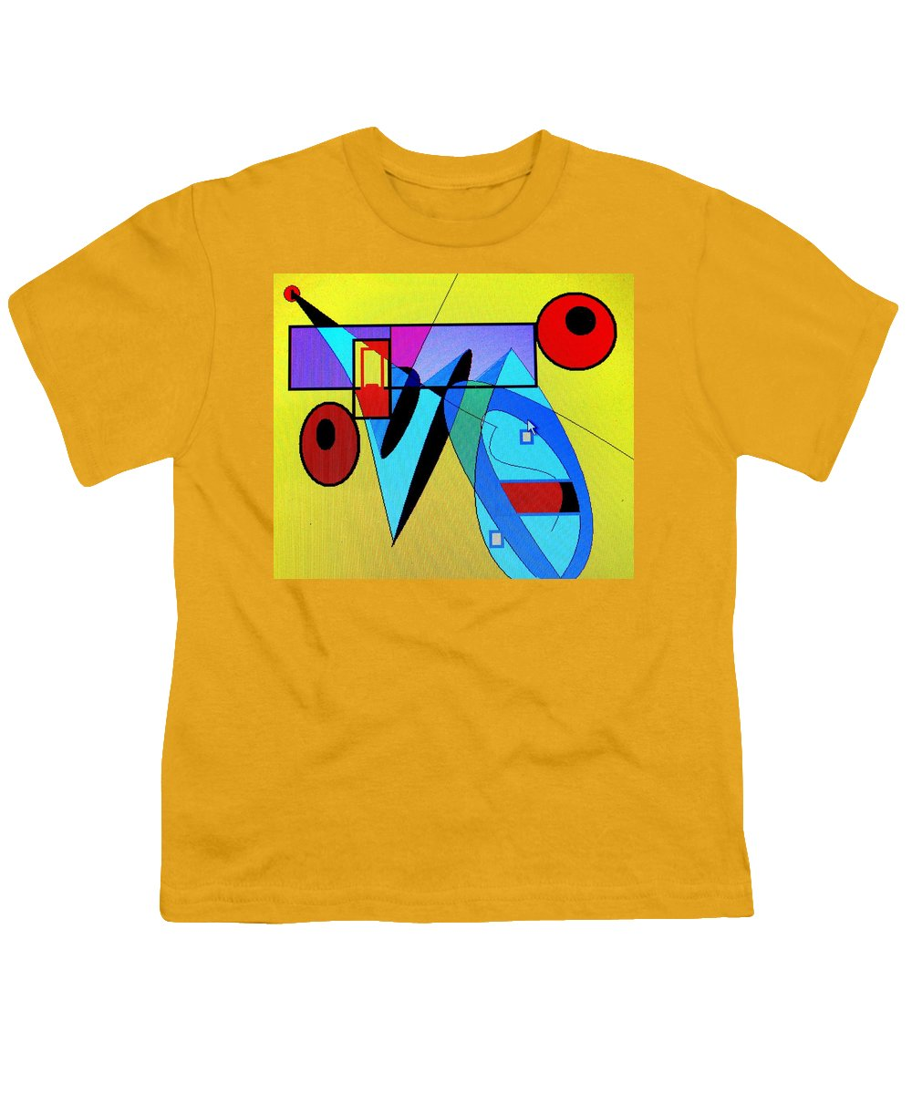 Horn Youth T-Shirt featuring the digital art Come Blow Your Horn by Ian MacDonald