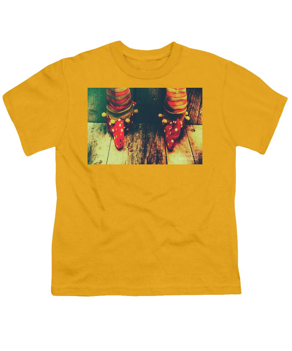 Christmas Youth T-Shirt featuring the photograph Elves And Feet by Jorgo Photography - Wall Art Gallery