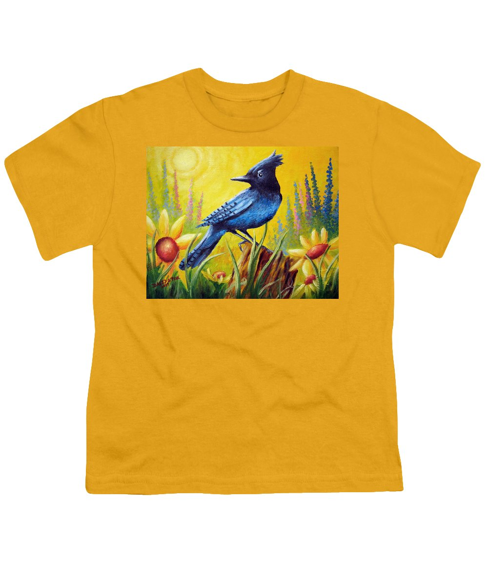 Bird Youth T-Shirt featuring the painting Greeting The Day by David G Paul