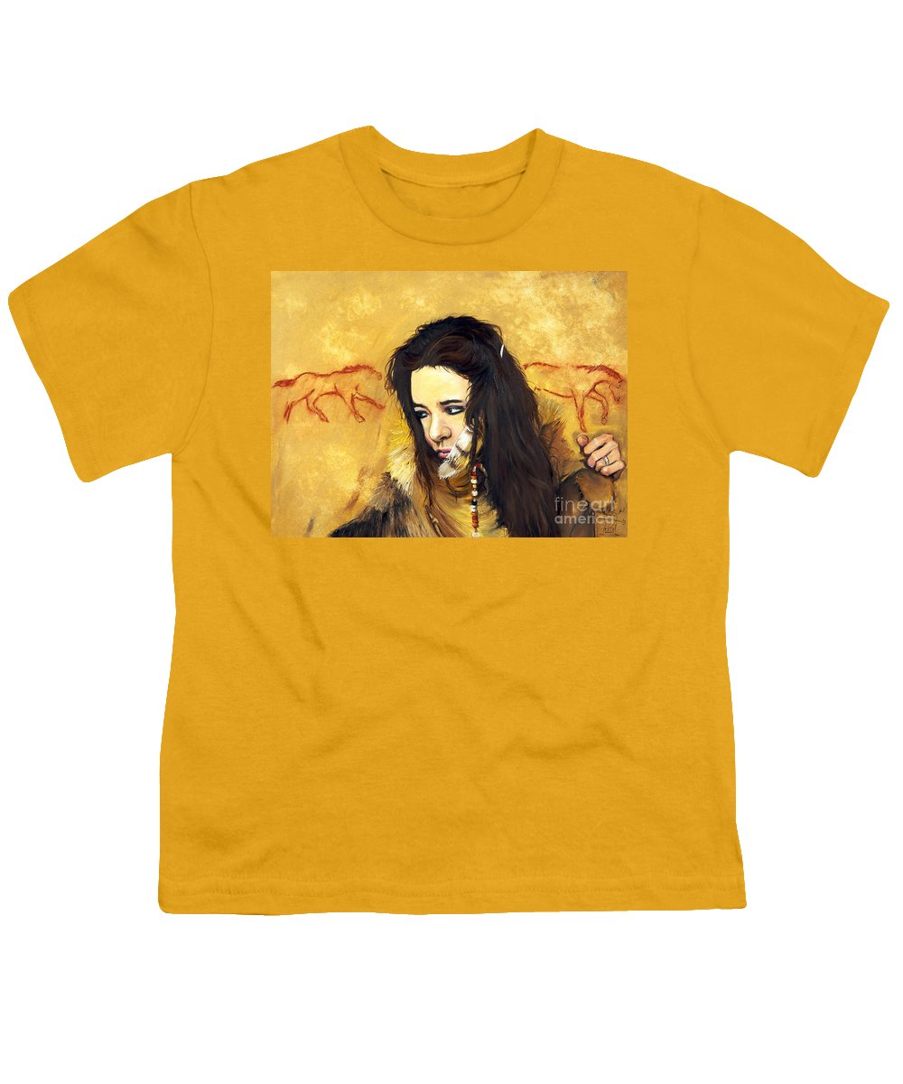 Southwest Art Youth T-Shirt featuring the painting Journey by J W Baker