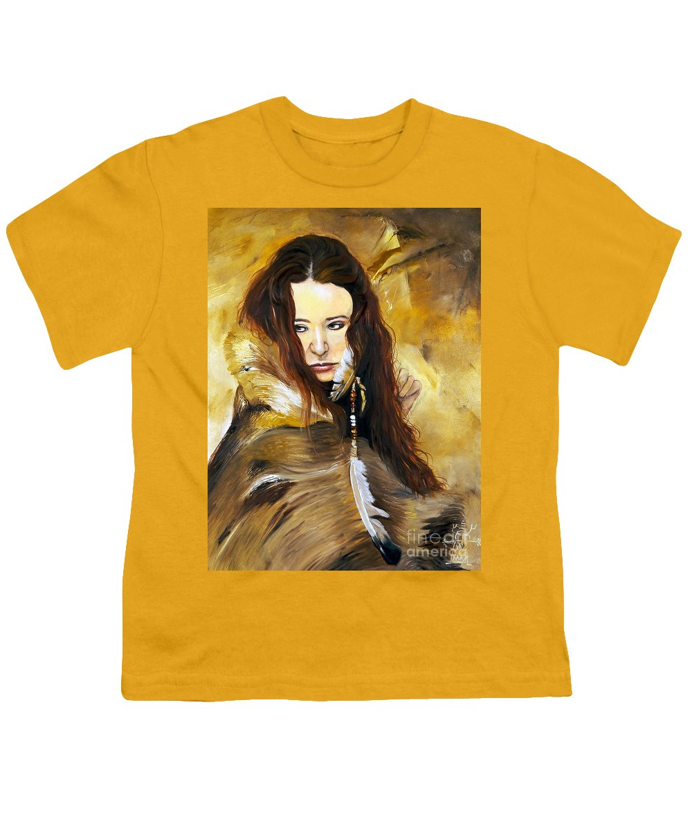 Southwest Art Youth T-Shirt featuring the painting Lament by J W Baker