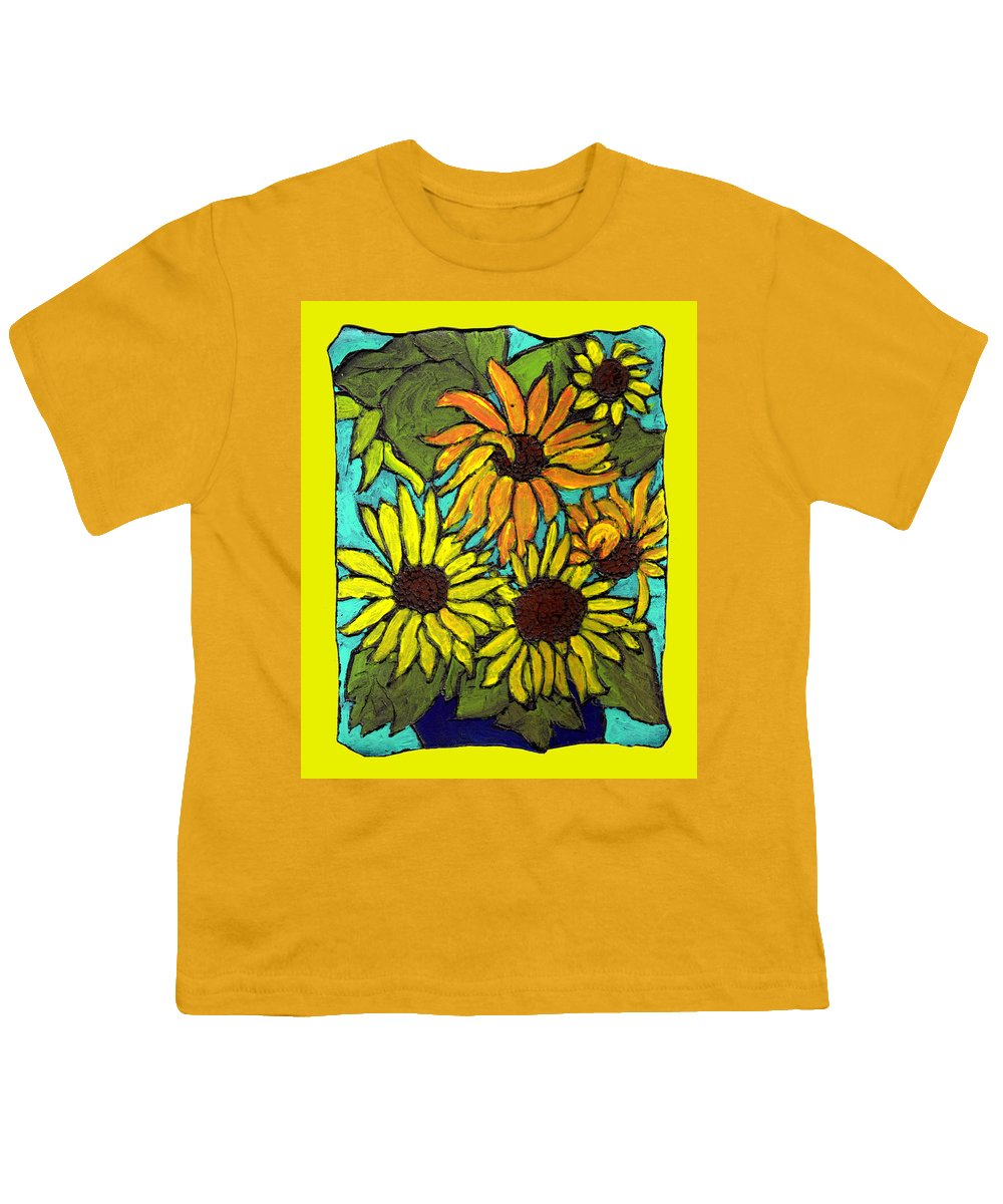 Yellow Youth T-Shirt featuring the painting Let The Sunshine In by Wayne Potrafka