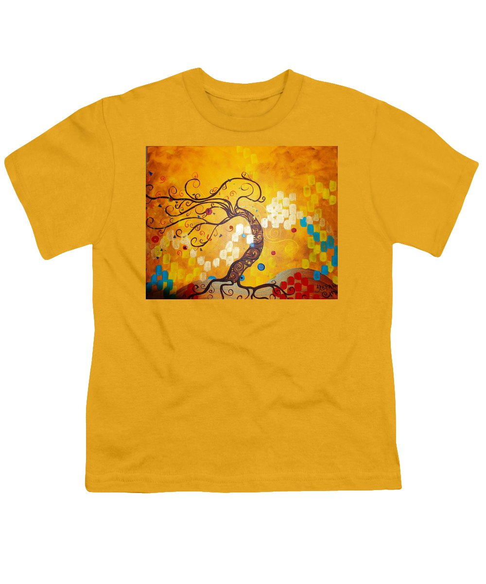 Youth T-Shirt featuring the painting Life Is A Ball by Stefan Duncan
