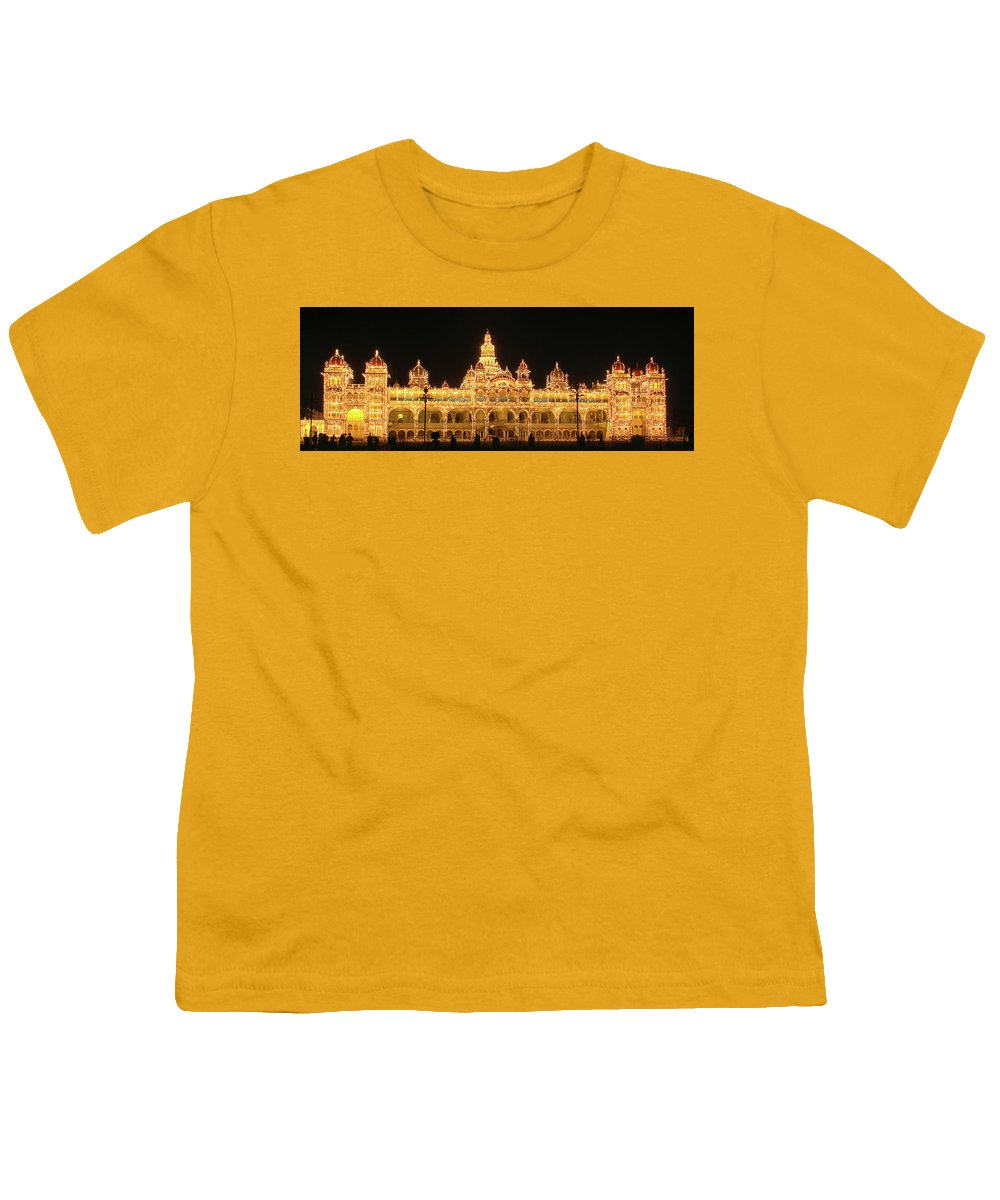 Mysore Youth T-Shirt featuring the photograph Mysore Palace by Sandeep Gangadharan