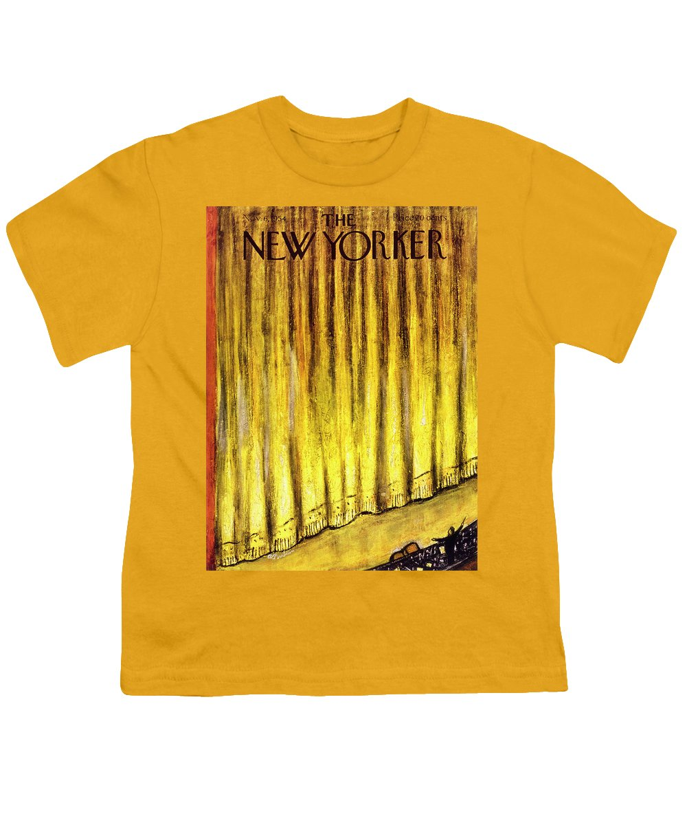 Stage Youth T-Shirt featuring the painting New Yorker November 6 1954 by Abe Birnbaum