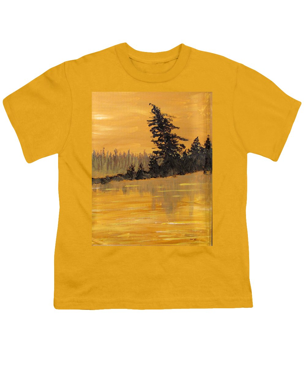 Northern Ontario Youth T-Shirt featuring the painting Northern Ontario Three by Ian MacDonald