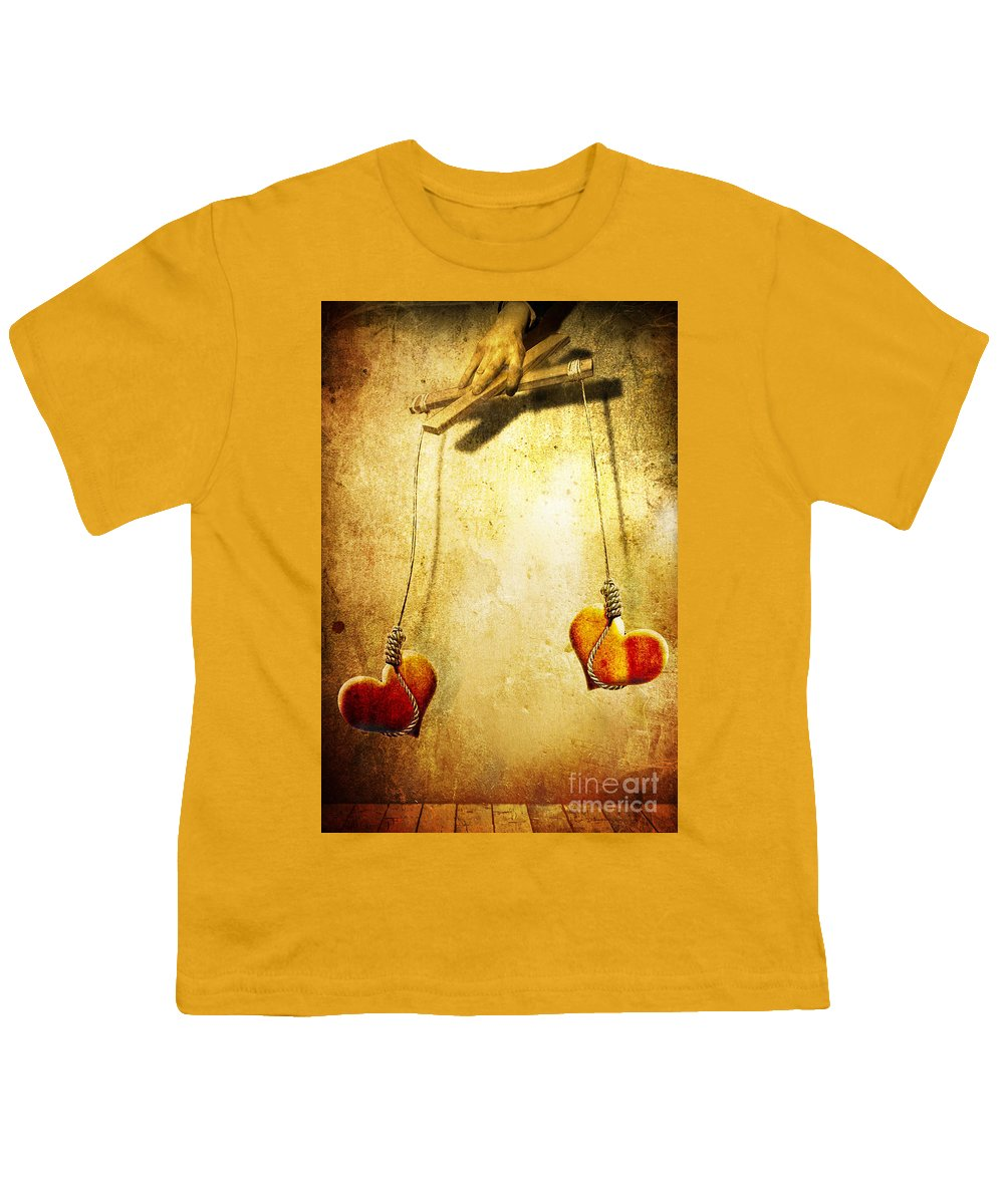 Puppeteer Youth T-Shirt featuring the painting Not Meant To Be... by Jacky Gerritsen
