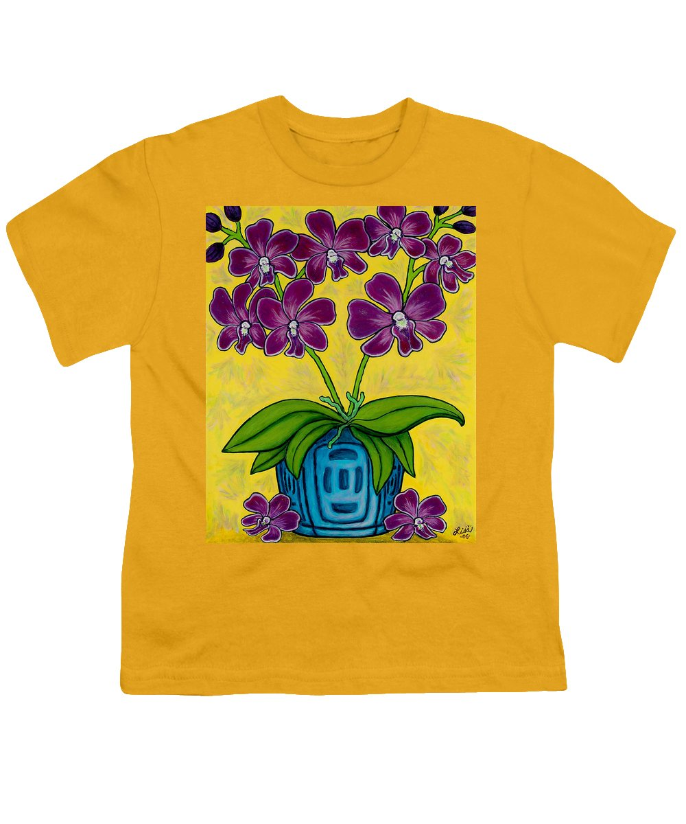 Orchids Youth T-Shirt featuring the painting Orchid Delight by Lisa Lorenz