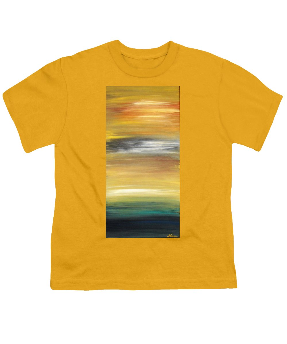 Waves Youth T-Shirt featuring the painting Pond by Todd Hoover