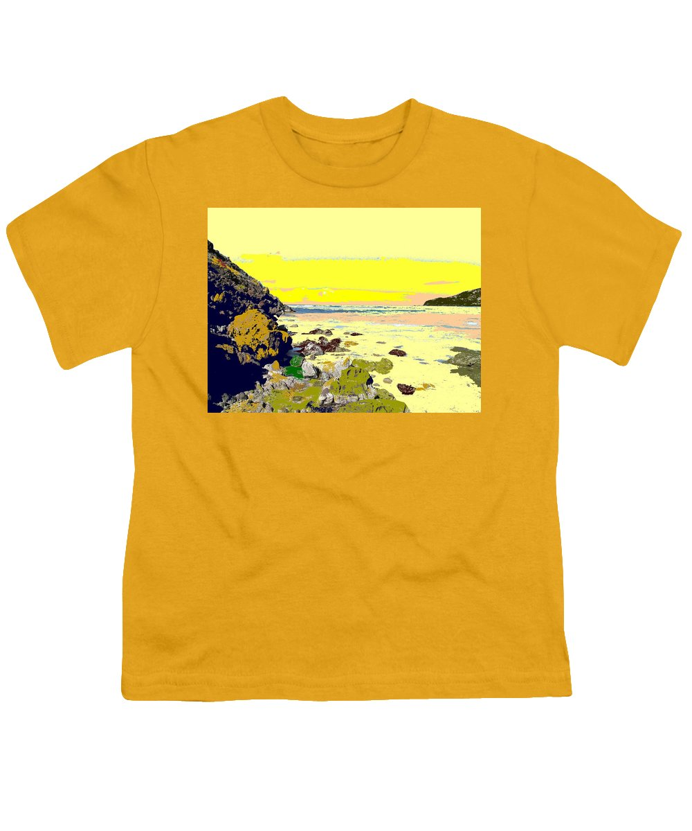 Beach Youth T-Shirt featuring the photograph Rocky Beach by Ian MacDonald