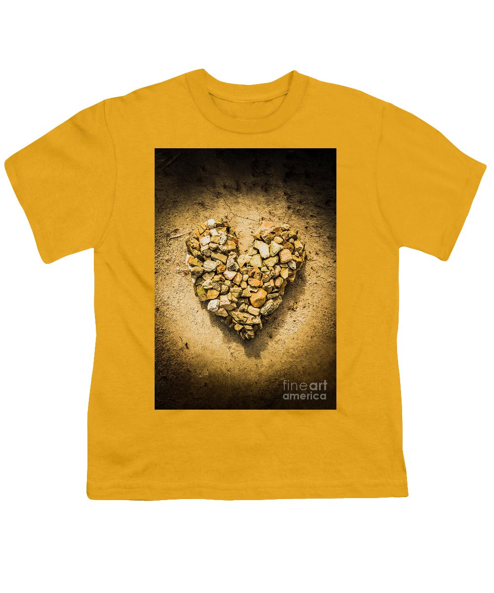 Love Youth T-Shirt featuring the photograph Rustic Rock Romance by Jorgo Photography - Wall Art Gallery