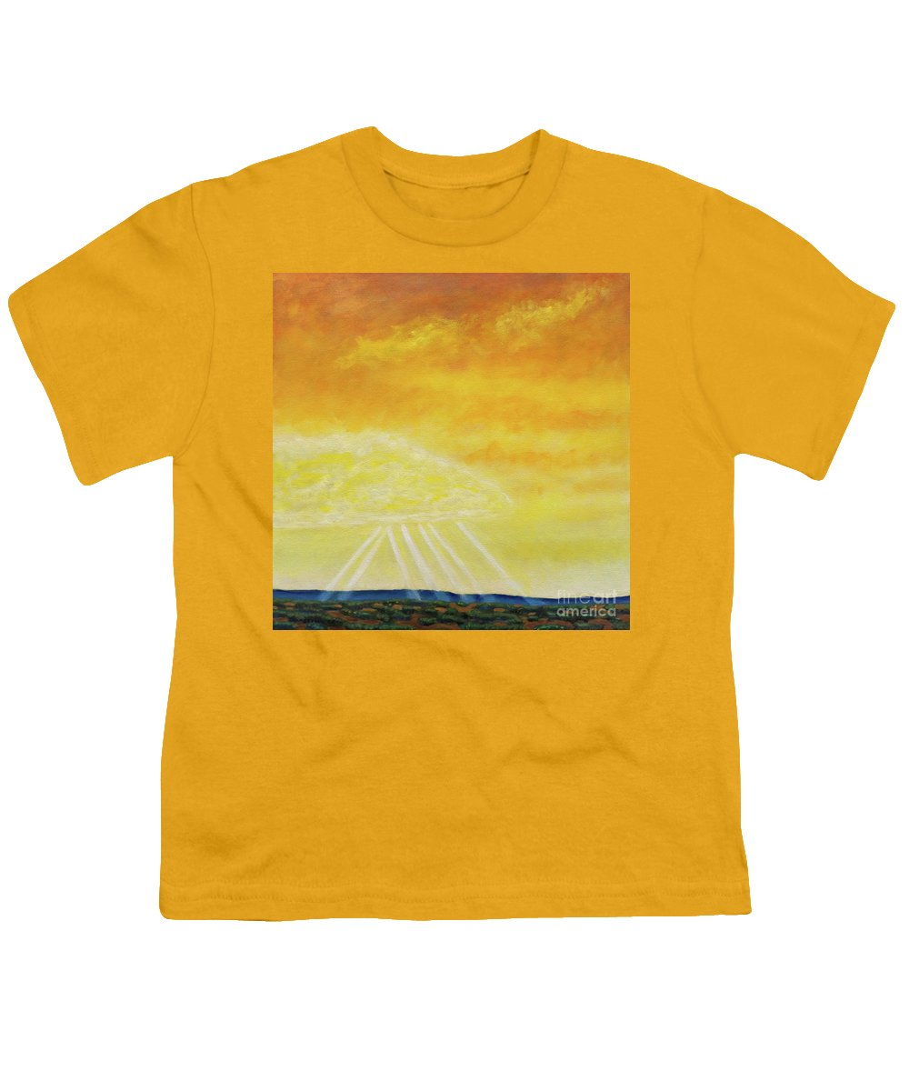 Landscape Youth T-Shirt featuring the painting Super Seven by Brian Commerford