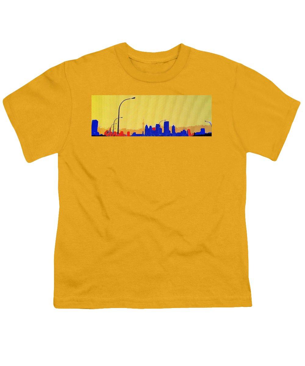 Toronto Youth T-Shirt featuring the photograph Toronto Lemon Skyline by Ian MacDonald