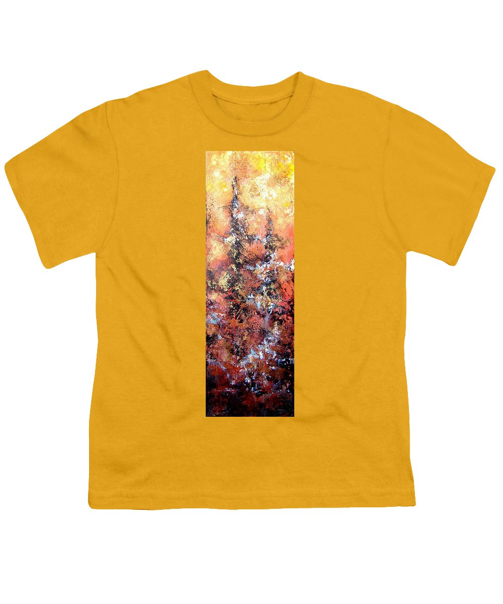 Tile Youth T-Shirt featuring the painting Wait For Sleep by Shadia Derbyshire