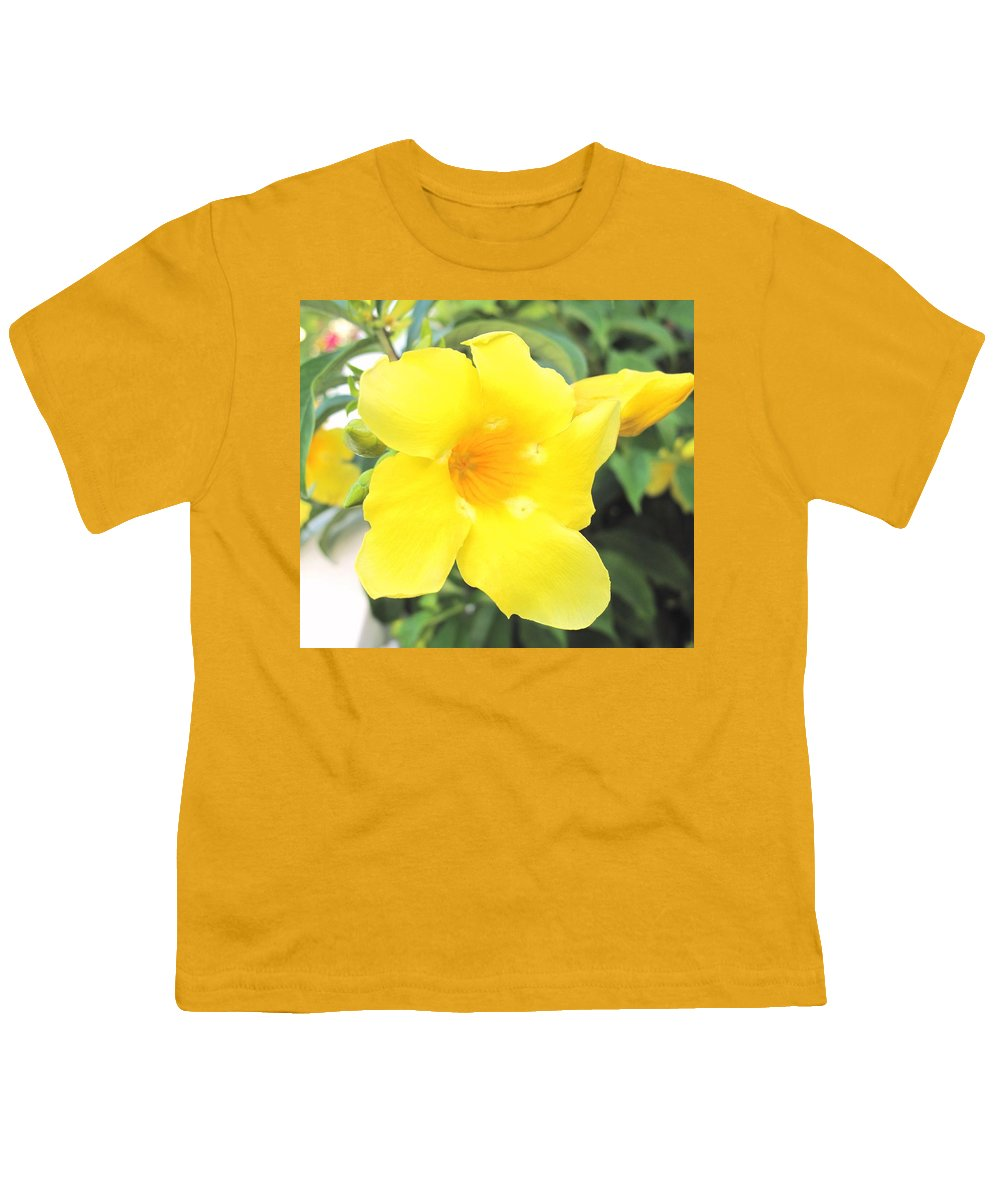 Yellow Youth T-Shirt featuring the photograph Yellow Hibiscus St Kitts by Ian MacDonald