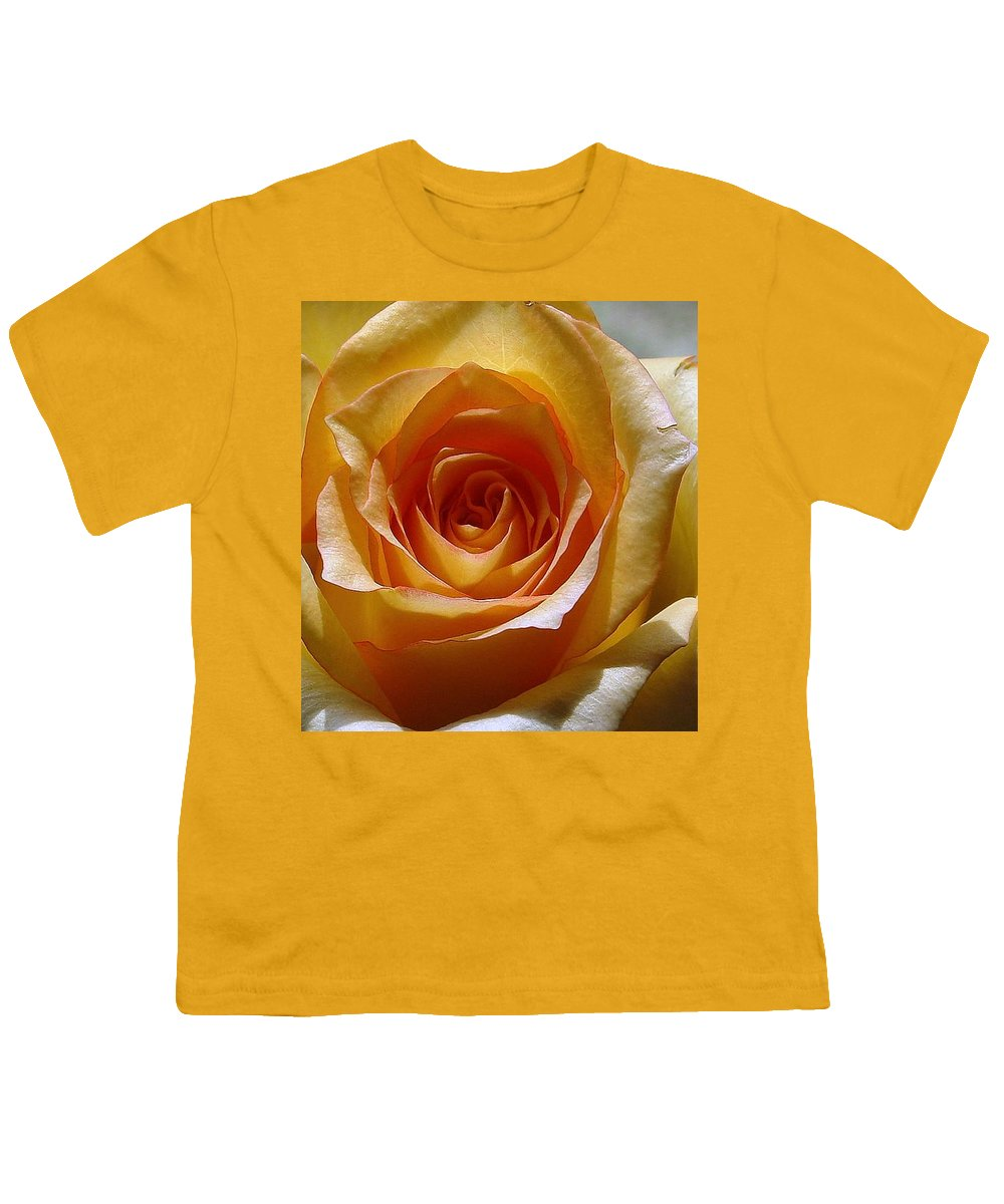 Rose Yellow Youth T-Shirt featuring the photograph Yellow Rose by Luciana Seymour