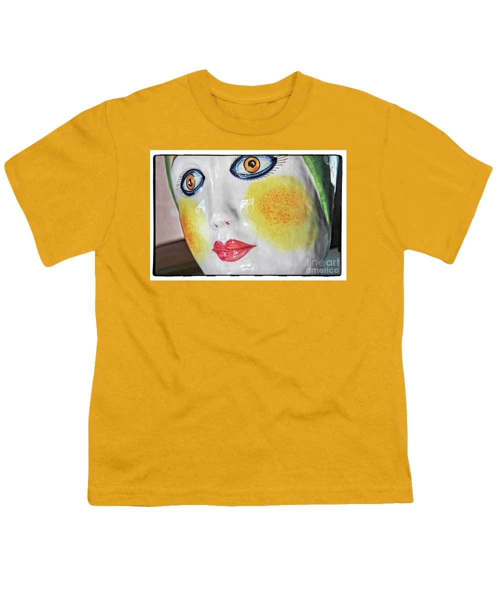 Porcelain Youth T-Shirt featuring the photograph Senora Blue Eyes by Michael Ziegler