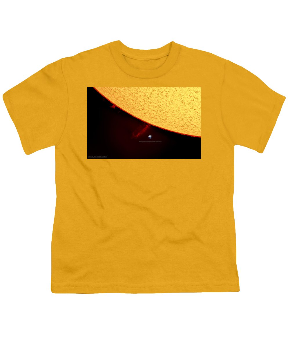 Solarprominence Youth T-Shirt featuring the photograph Prominence by Prabhu Astrophotography