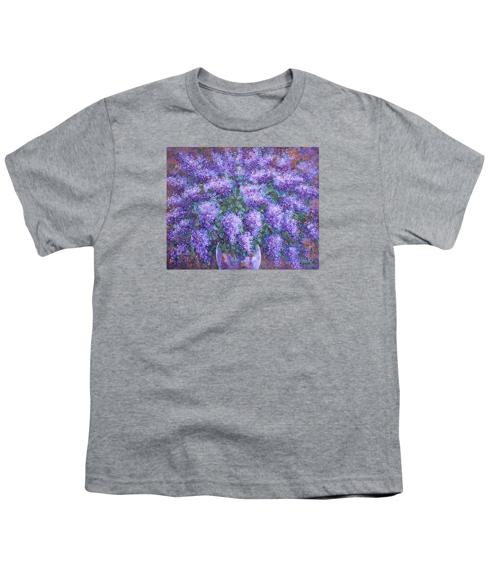 Flowers Youth T-Shirt featuring the painting Scented Lilacs Bouquet by Natalie Holland