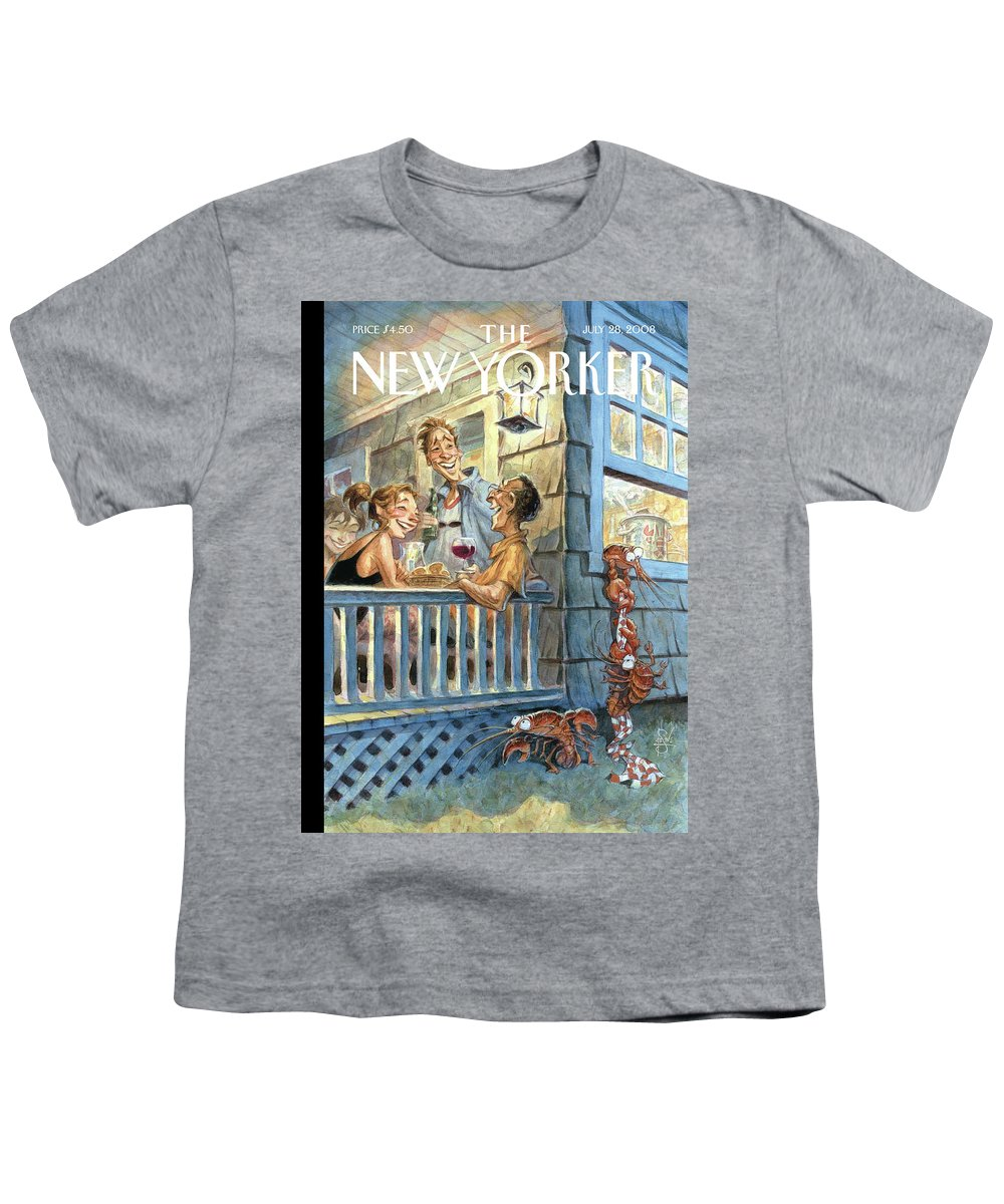 By Peter De Seve Youth T-Shirt featuring the painting New Yorker July 28th, 2008 by Peter de Seve