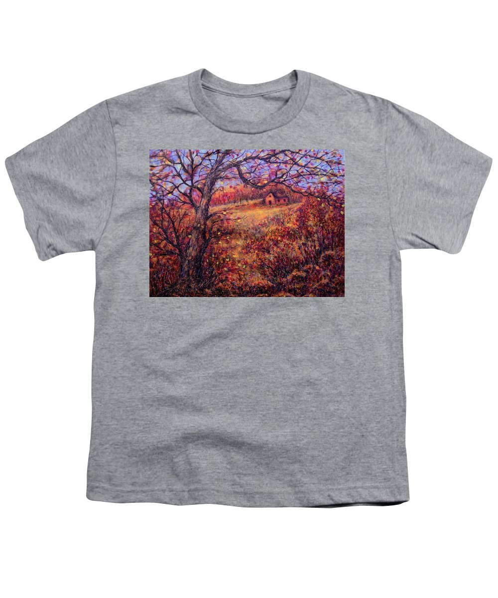 Autumn Youth T-Shirt featuring the painting Beautiful Autumn by Natalie Holland