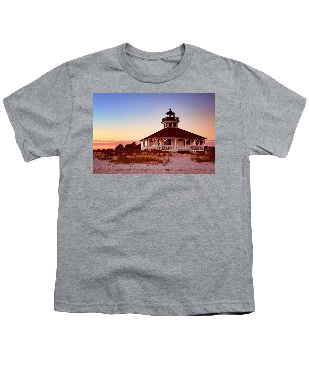 Boca Grande Youth T-Shirt featuring the photograph Boca Grande Lighthouse - Florida by Nikolyn McDonald