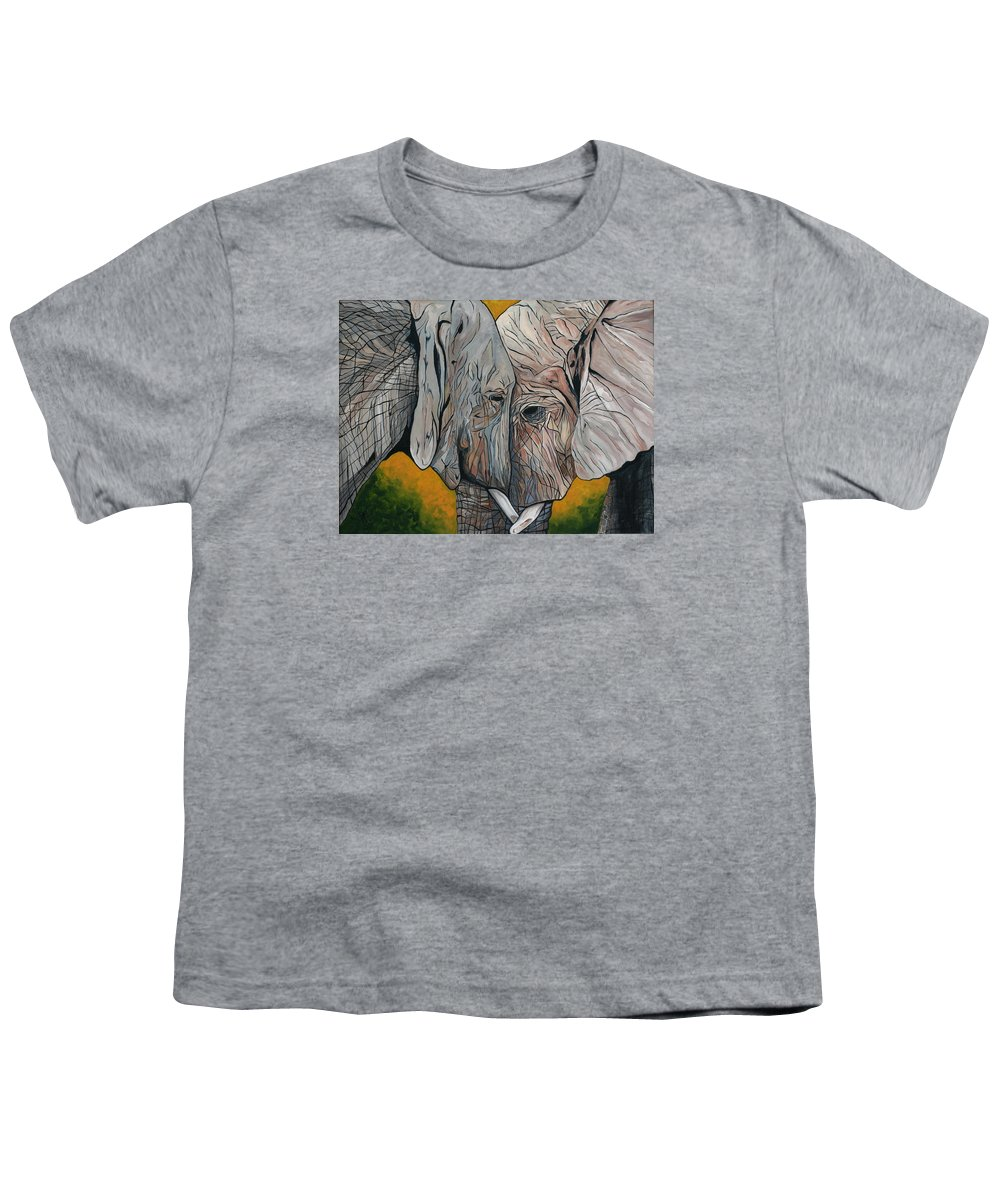 Elephant Youth T-Shirt featuring the painting Comfort by Aimee Vance