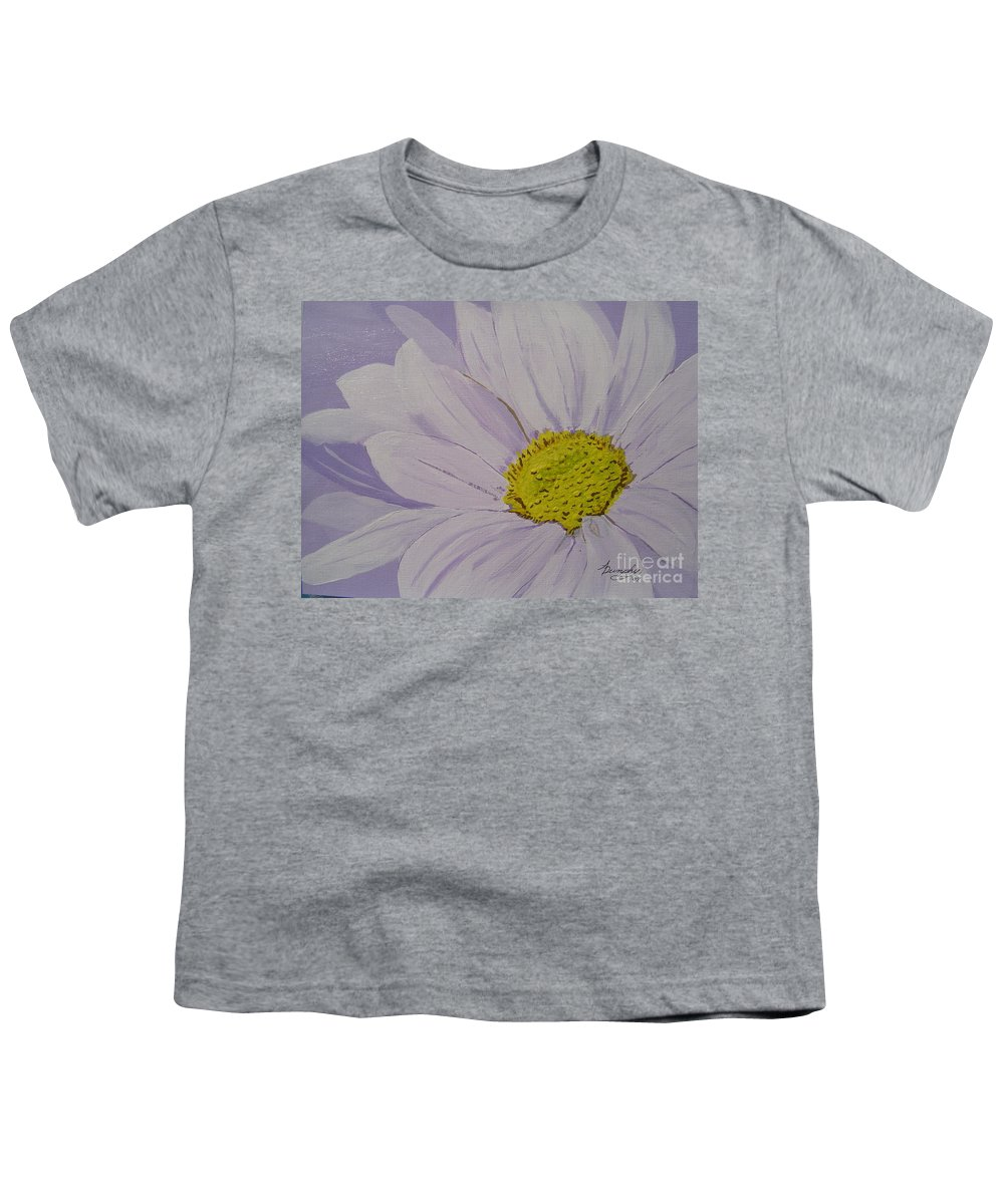 Daisy Youth T-Shirt featuring the painting Daisy by Anthony Dunphy