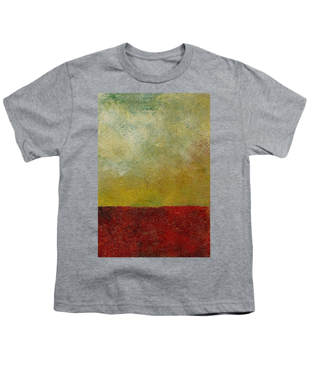 Abstract Landscape Youth T-Shirt featuring the painting Earth Study One by Michelle Calkins
