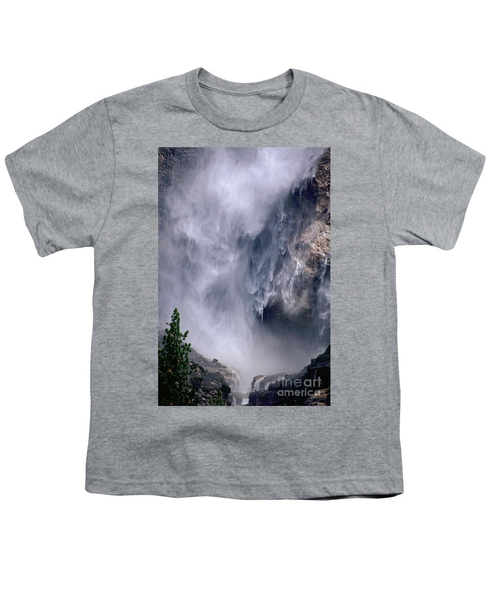 Waterfall Youth T-Shirt featuring the photograph Falling Water by Kathy McClure