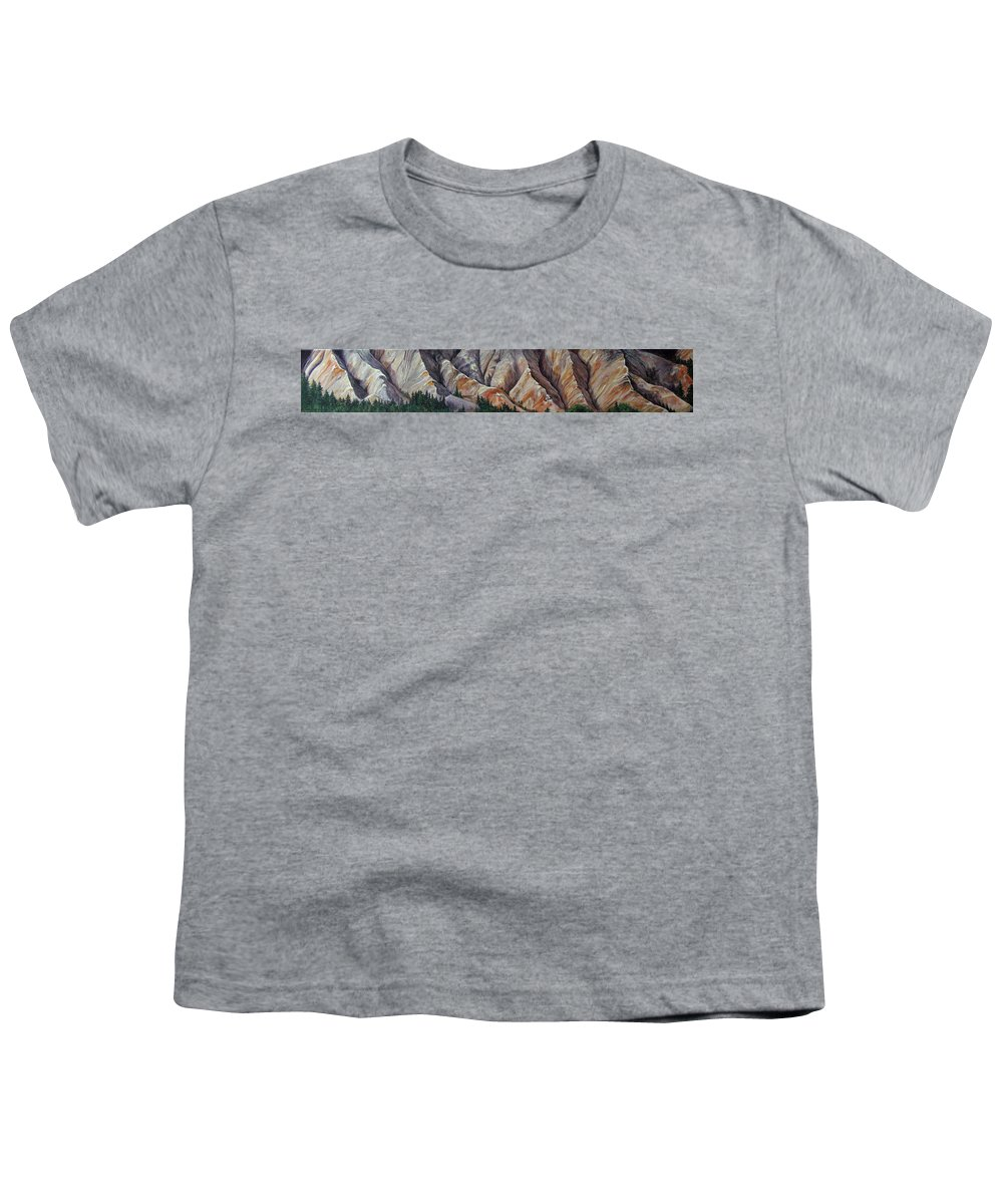 Mountains Youth T-Shirt featuring the painting Marble Ridge by Elaine Booth-Kallweit
