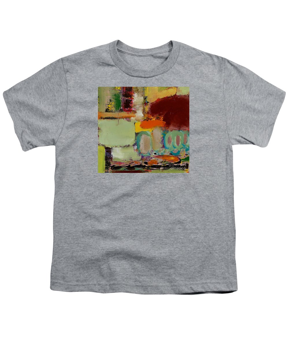 Landscape Youth T-Shirt featuring the painting Over There by Allan P Friedlander