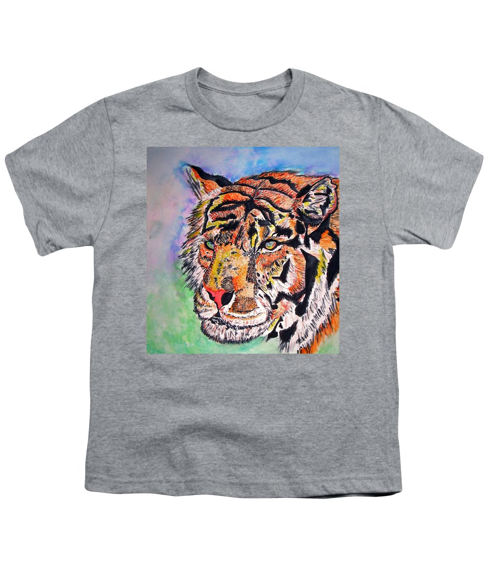 Abstract Youth T-Shirt featuring the painting Paradise Dream by Crystal Hubbard