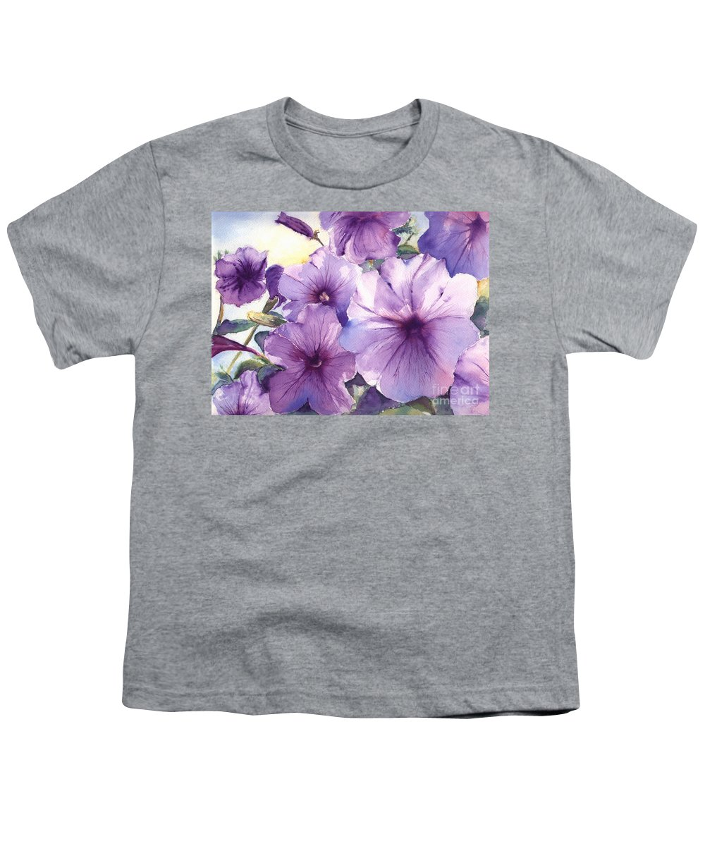 Purple Youth T-Shirt featuring the painting Purple Profusion by Patricia Henderson