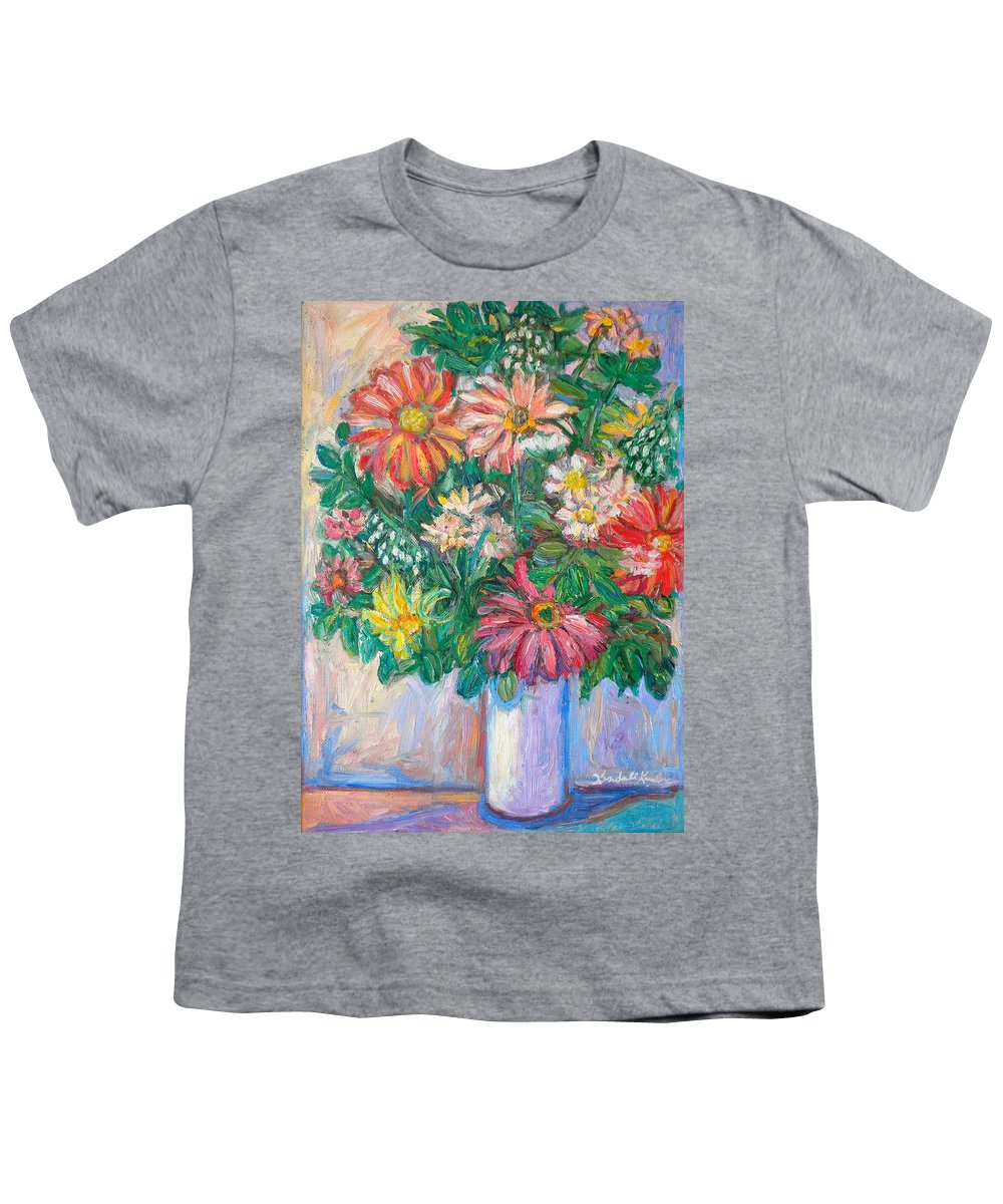 Still Life Youth T-Shirt featuring the painting The White Vase by Kendall Kessler