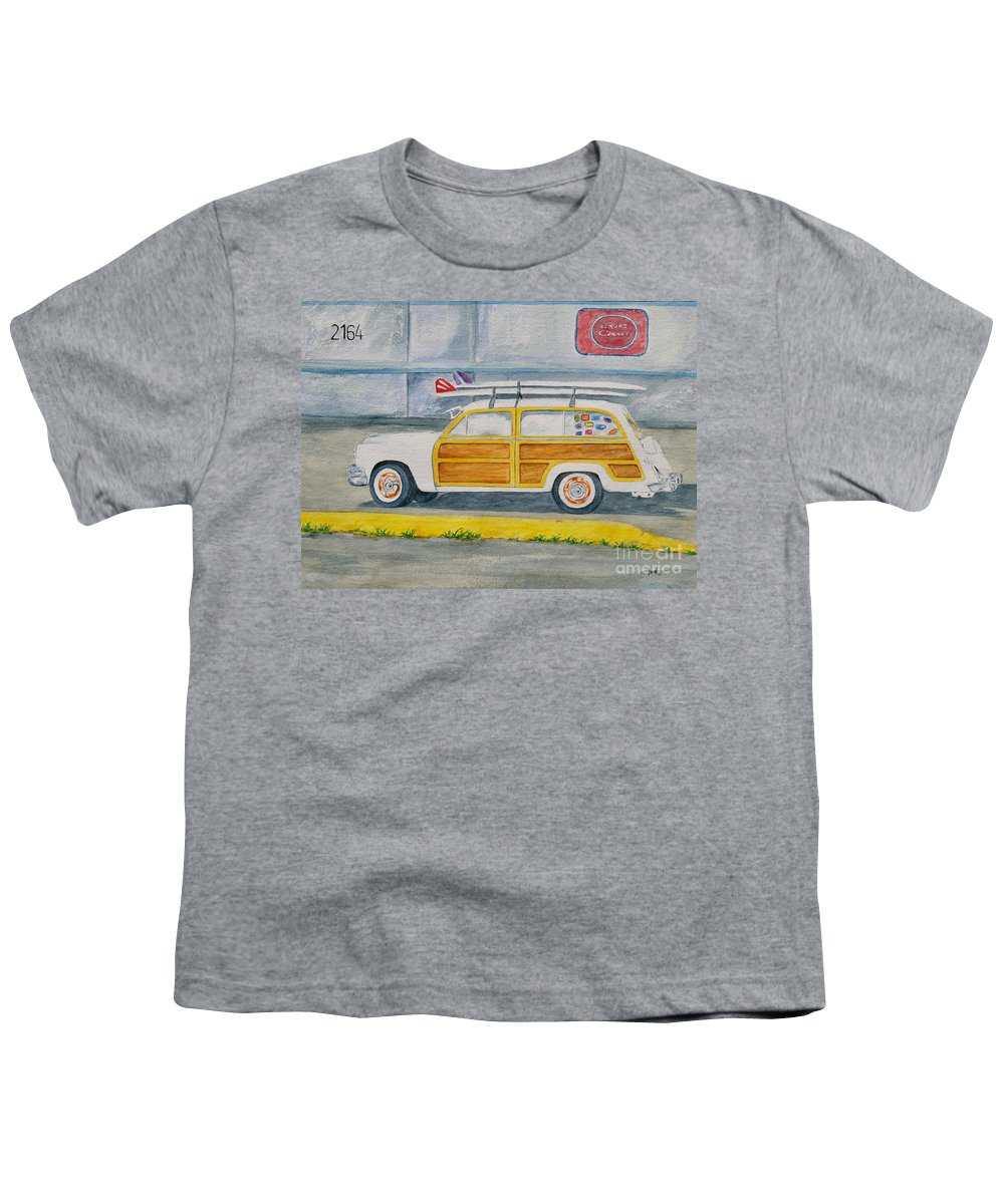 Woody Paintings Youth T-Shirt featuring the painting Woody by Regan J Smith